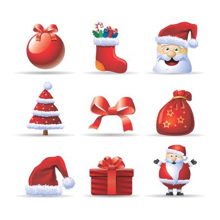 christmas icons Stock Vector - 10788556