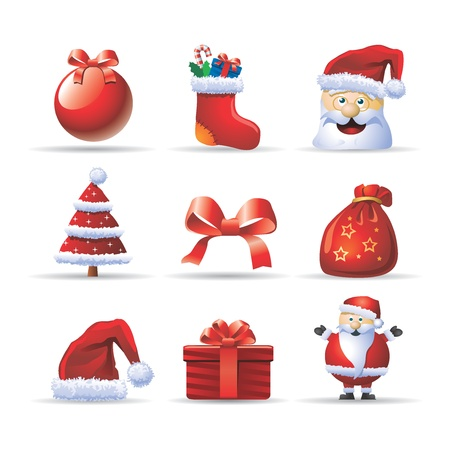 christmas tree set: christmas icons