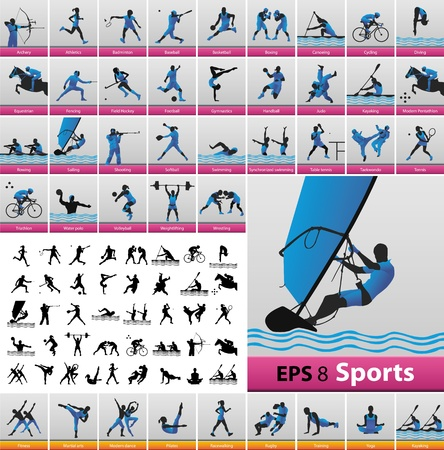 sport icons Stock Vector - 13454793