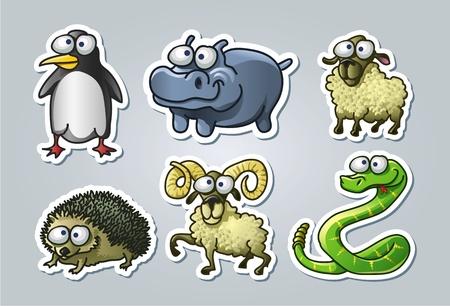 serpiente caricatura: ilustrados animales