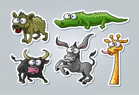 illustrated animals Vector