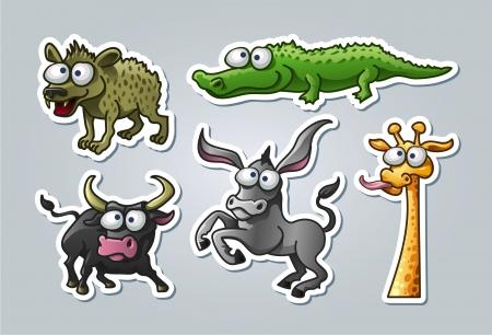 wild donkey: illustrated animals Illustration