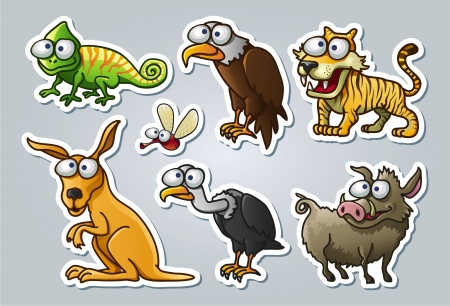 illustrated animals Stock Vector - 15328402