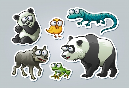 illustrated set of various animals in cartoon style Stock Vector - 17250805