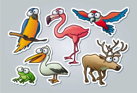 illustrated set of various animals in cartoon style Stock Vector - 17250802