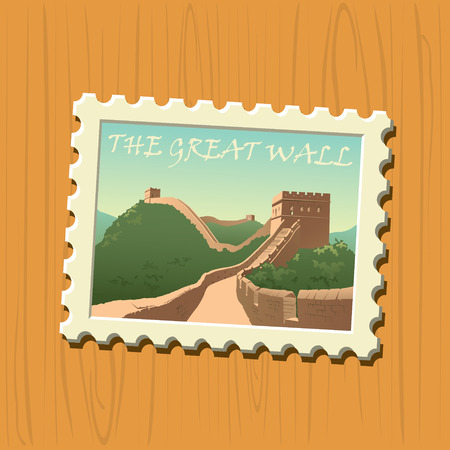 great wall of china: Great wall stamp