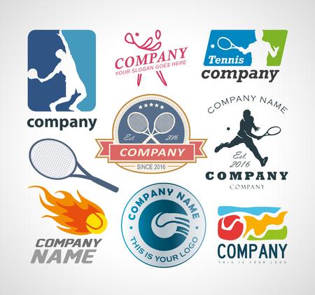 Vector Set Tennis-Logo-Design-Elemente. Logo