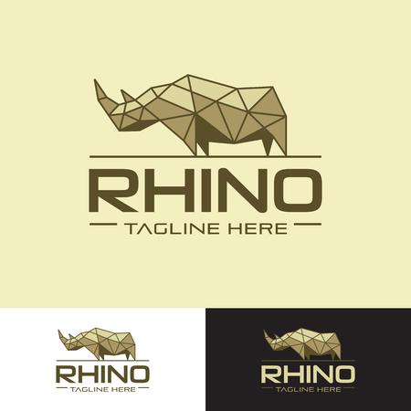 Geometrical rhino logo
