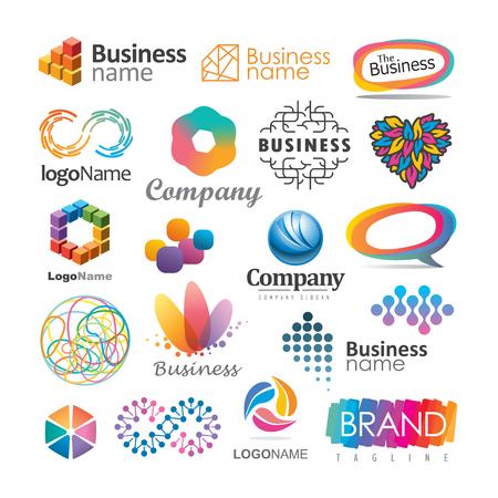 Set abstrakte Vektorelemente für Logo-Design