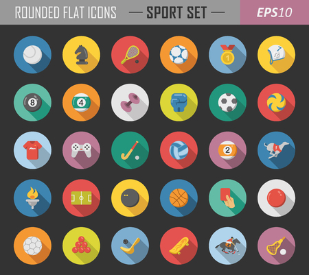 Layered sport icons Ilustrace