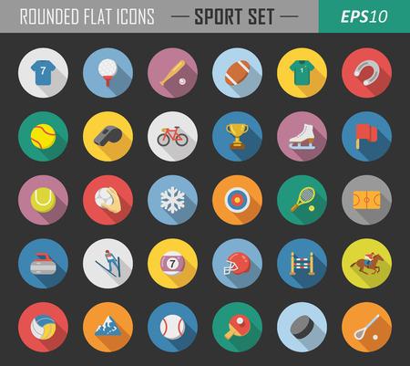 Gelaagde sport pictogrammen