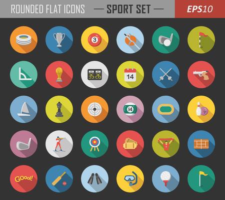 Icônes de sport en couches Banque d'images - 89991882