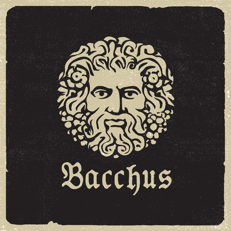Bacchus portrait Illustration
