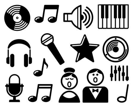 Audio and Music icons Vector