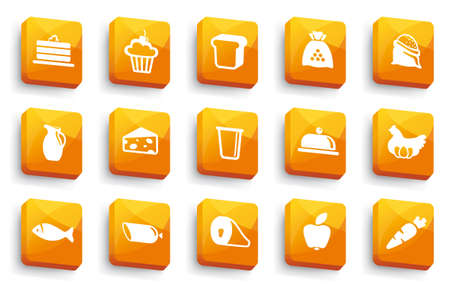fish icon: Food buttons