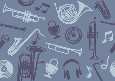trombón: Fondo Transparente con instrumentos musicales de viento