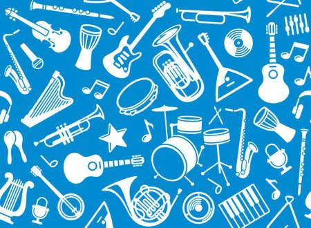 instruments de musique: Seamless fond musical