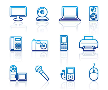 Equipment icons Stock Vector - 12805709