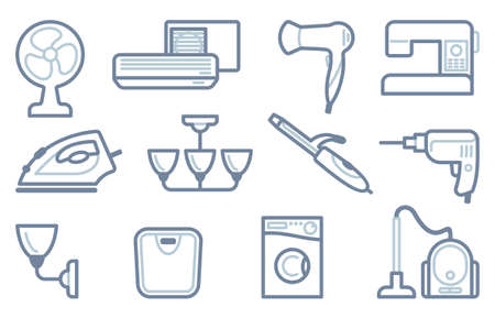 Icons of home appliances for the house Vector