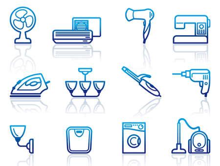 home appliances: Aparatos para el hogar iconos