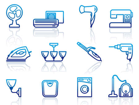 Home appliances icons Vector