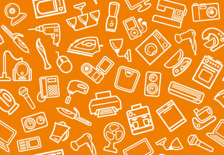 Home appliances background Vector