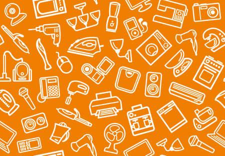 home appliances: Inicio aparatos de fondo Vectores