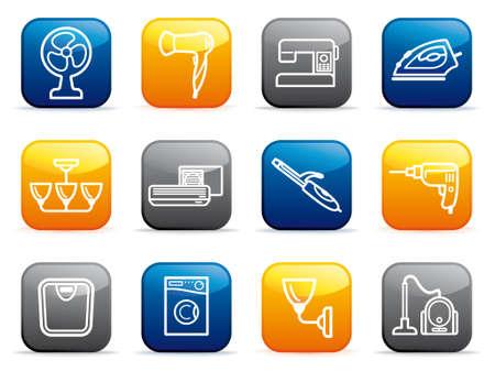 electrical appliances: Home appliances buttons