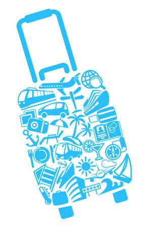 suitcases: Symbolen van het toerisme Stock Illustratie