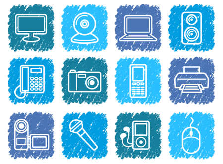 Equipment icons Stock Vector - 13226992