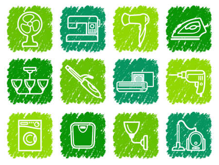 electric iron: Home appliances icons