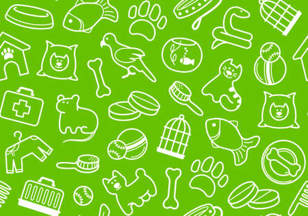 Pets care seamless background Vector
