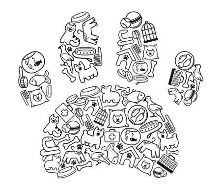 druckerei: Pet-Shop-Ikonen Illustration