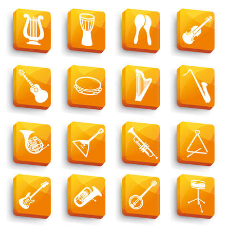 Buttons of musical instruments Stock Vector - 13793857