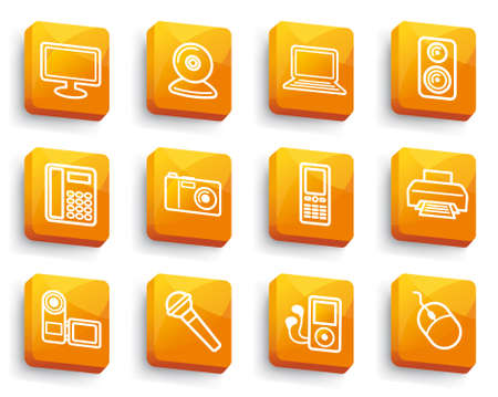 Equipment buttons Stock Vector - 13905992