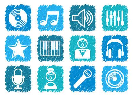 chanteur opéra: Icônes audio et de musique