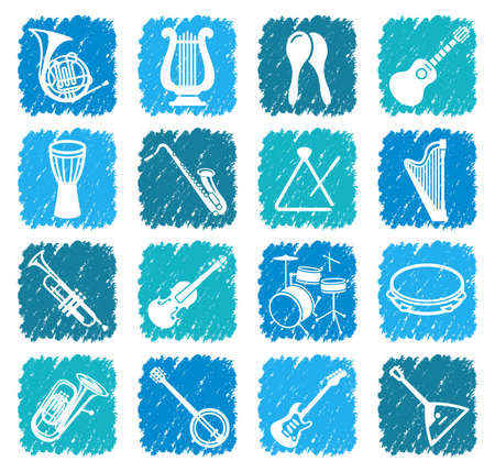percussion: Icons of musical instruments Illustration
