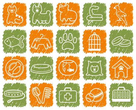 veterinarian: Huisdieren zorg icon set