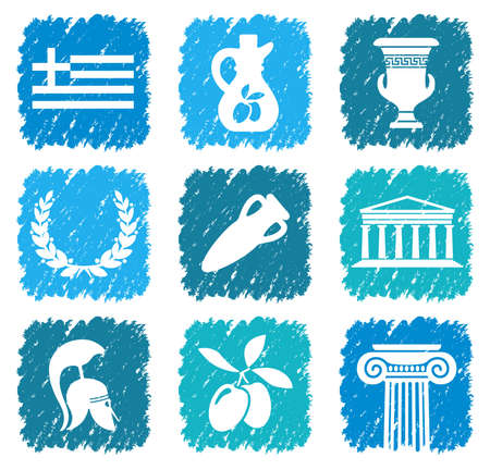Symbols of Greece Vector