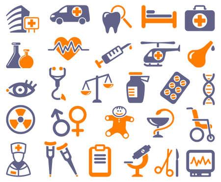 chirurg: Pharma und Healthcare Symbole