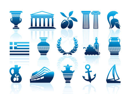 columns: Greece icons