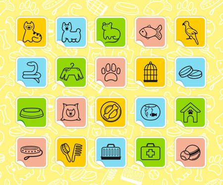 Pets care stickers Stock Vector - 15067088