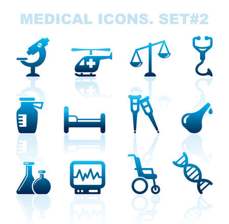 Pharma and Healthcare icons  Vector