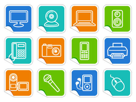 Equipment stickers Stock Vector - 15067079