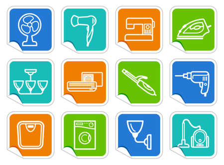 Home appliances stickers Stock Vector - 15067081