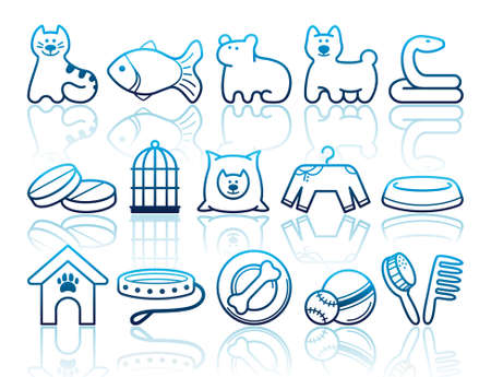 Pets care icon set Stock Vector - 15067086