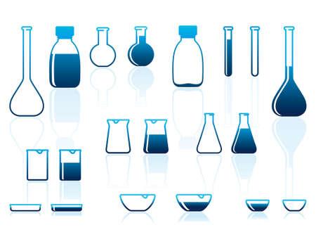 beaker: Laboratorio químico cerámica Vectores