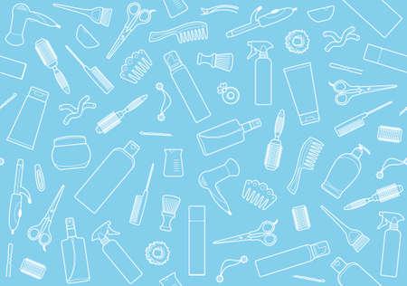 hairspray: Fondo incons�til de accesorios de peluquer�a s