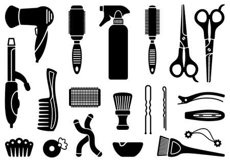 Hairdresser s accessories Vector