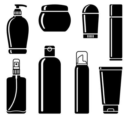 toiletry: Bottles of cosmetic products